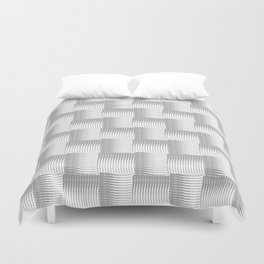 Silver Waves Duvet Cover