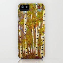 Birch trees-3 iPhone Case