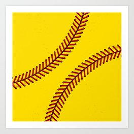 Fast Pitch Softball Art Print