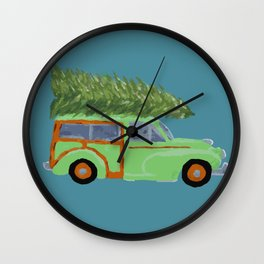 Christmas Traveller Wall Clock