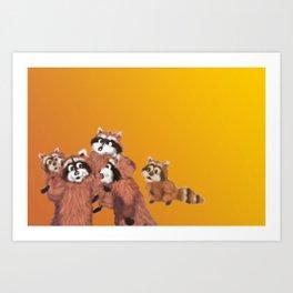 Raccoon Series: Discussion Art Print