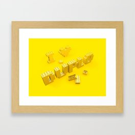I Love Duplo Framed Art Print