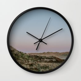 Foggy dunes on the Island Terschelling || Travel photography nature wilderness hills outdoor green Wall Clock