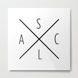 Anna + Sam Logo Metal Print