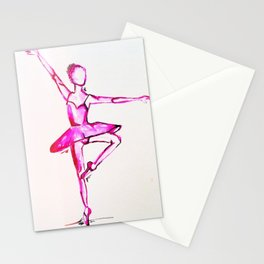 neon dancer Stationery Cards