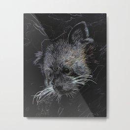 Abstract Red Panda Metal Print