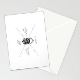 Keep Asking, Keep Seeking, Keep Knocking Stationery Cards
