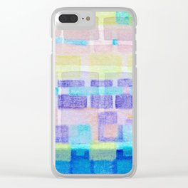 Watercolor pastels Clear iPhone Case