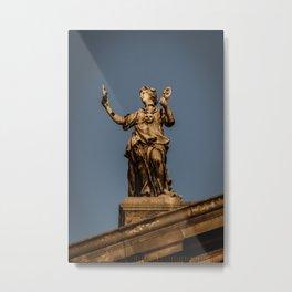 The Muse Thalia atop the Clarendon Building Oxford University England Metal Print