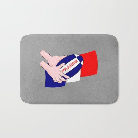 France Rugby Ball Flag Bath Mat