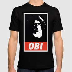 Obey Wan Mens Fitted Tee Black SMALL