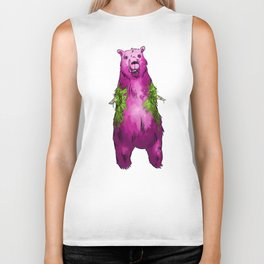 Armless Bear in Nature Biker Tank