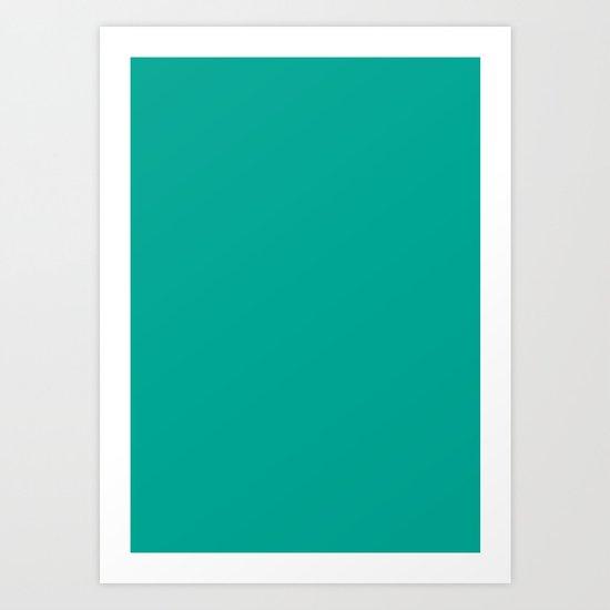 Persian green Art Print
