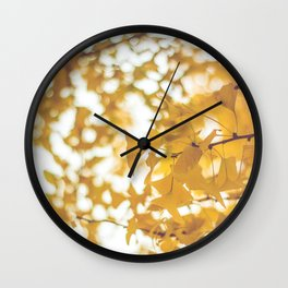 Looking up in yellow Wall Clock