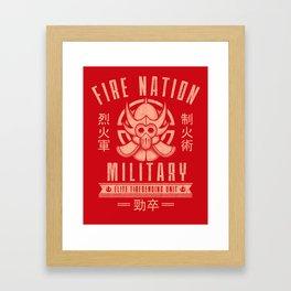 Fire is Fierce Framed Art Print