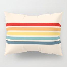 Takaakira - Classic Rainbow Retro Stripes Pillow Sham
