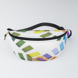 Colorful interlocking block pattern Fanny Pack