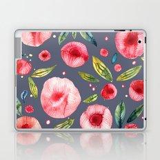 Peonies Blue Laptop & iPad Skin