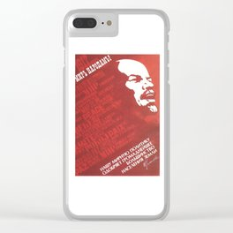 Russia, URSS Vintage, peace Clear iPhone Case