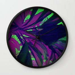 Behind the foliage Wall Clock