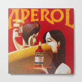 Aperol Alcohol Aperitif Spritz Vintage Advertising Poster Metal Print