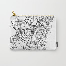 SANTIAGO DE CHILE BLACK CITY STREET MAP ART Carry-All Pouch