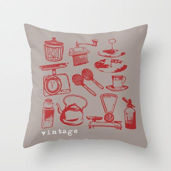 kitchen vintage Throw Pillow