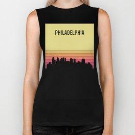 Philadelphia Skyline Biker Tank