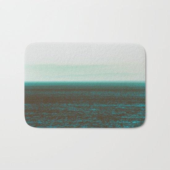 Sea front green Bath Mat
