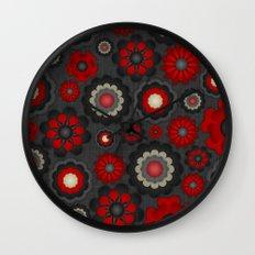 Dark Romance Floral Wall Clock