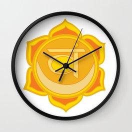 Sacral Chakra Svadhishthana Chakra Wall Clock