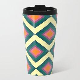 Retro Pattern VII Metal Travel Mug