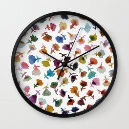 petits fleurs 2 Wall Clock