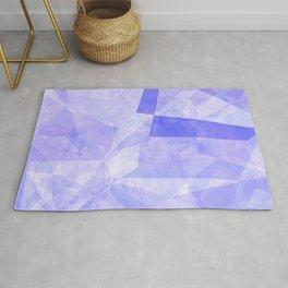 Abstract lavender violet polygonal shapes Rug