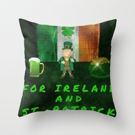 For Ireland And St Patrick Throw Pillow