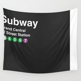 New York City Subway Print  Wall Tapestry