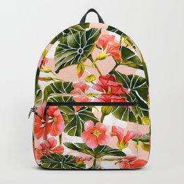 Flowering garden nasturtiums Backpack