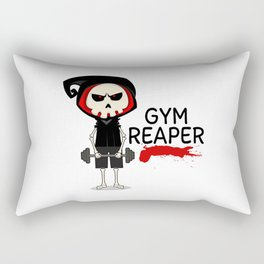 Gym Reaper | Fitness Grim Reaper Training Rectangular Pillow