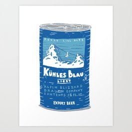 Kuhles Blau Light Art Print