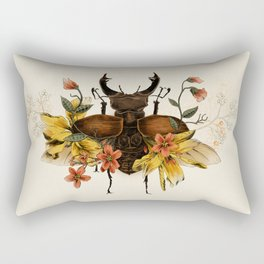 Blooming Beetle Rectangular Pillow