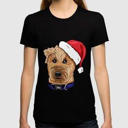 Irish Soft Coated Wheaten Terrier Dog Christmas Hat T-shirt