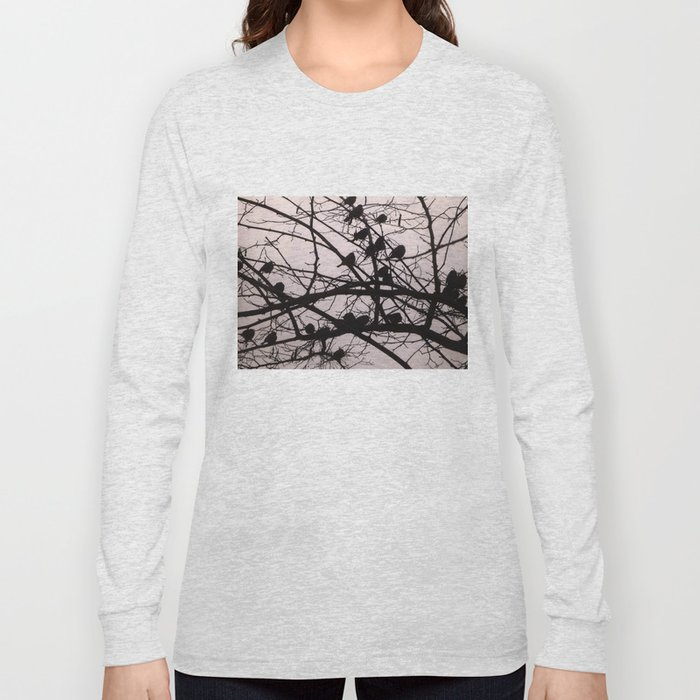 Birds Silhouettes Long Sleeve T-shirt