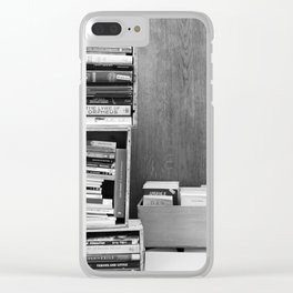 Paris in Black and White, French Books Clear iPhone Case