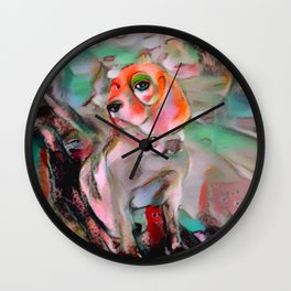 The Offended Beagle Wall Clock