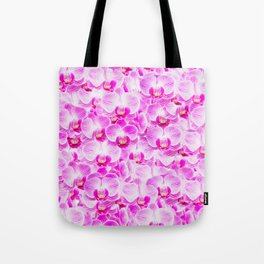 Pink Pattern Orchids Galore Tote Bag
