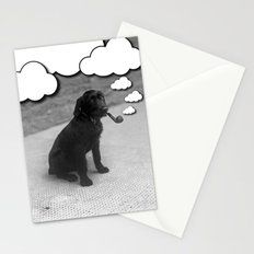 Pipe Puffing Dog Stationery Cards