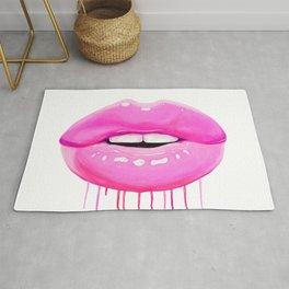 Pink lips Rug