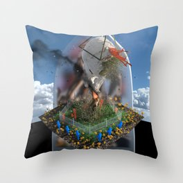 Odd Gods Before Our Eyes Throw Pillow