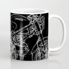 Black Ducati Monster White ink Mug