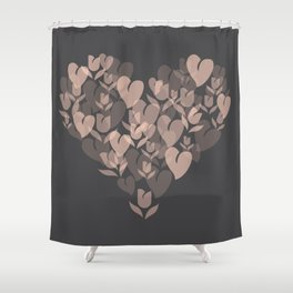 Love and Tulips Shower Curtain